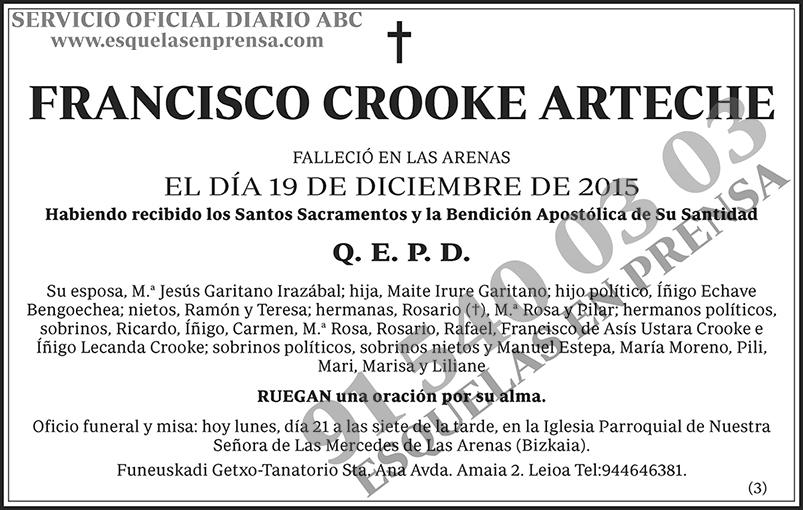 Francisco Crooke Arteche